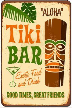 Tiki Bar Nostalgic Retro Metal Sign Home Decor Man Cave Pool 8x12 SN D040   eBay