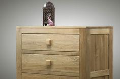 Oakdale Solid Oak Furniture Range Bedroom | Chest of Drawers Top  Oak Furniture Land www.oakfurnitureland.co.uk