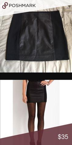 Armani Exchange Faux Leather Panel Ponte Miniskirt Never worn A/X Armani Exchange Skirts Mini