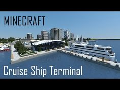 Minecraft Cruise Ship Terminal (full interior) + Download - YouTube Minecraft Modern City, Minecraft City Buildings, Minecraft Structures, Minecraft House Designs, Minecraft Architecture, Minecraft Creations, Minecraft Building Blueprints, Minecraft Plans, Minecraft Projects