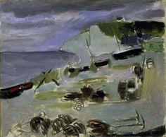 Henri Matisse - Boats on the Beach, Etrétat, 1920.