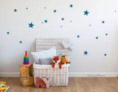 Little blue stars wall stickers. Kids decoration. Stars walldecal. Vinilos de estrellitas infantiles azules para decoración