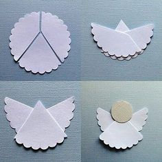 How to make simple origami angel paper craft step by step DIY tutorial instructions How to how to do diy instructions crafts do it yourself diy website art project ideas Easy Fall Crafts, Easy Crafts For Kids, Christmas Crafts For Kids, Christmas Decorations, Birthday Decorations, Noel Christmas, Christmas Fashion, Christmas Ornaments, Old Magazine Crafts