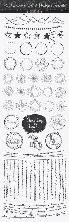 Confetti Brushes for Illustrator by lunalexx on Market - Bullet Journal Creative Market, Banners, Sketch Note, Bujo Doodles, Easy Doodles, Christmas Doodles, Diy Christmas, Bullet Journal Inspiration, Journal Ideas