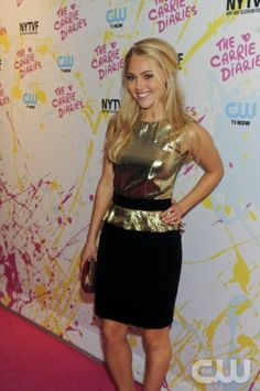 Opening night of the New York Television Festival Kicks off with the Red-Carpet World Premiere of The Carrie Diaries, which premieres in January on the CW Network. Pictured: AnnaSophia Robb. Photo: Timothy Kuratek/ The CW © 2012 The CW Network. All Rights Reserved