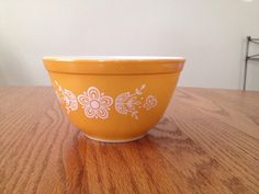 pyrex vintage 401 butterfly gold by TaliGirl77 on Etsy