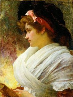 Thoughts (1880). Marcus Stone (English, 1840–1921).