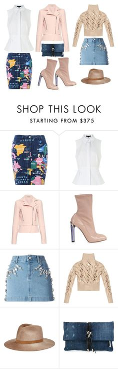 """""""Untitled #658"""" by vernesta ❤ liked on Polyvore featuring Love Moschino, Alexander Wang, Balenciaga, Alexander McQueen, Emanuel Ungaro, MM6 Maison Margiela, Eugenia Kim, Dsquared2, women's clothing and women"""