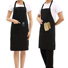 Essuyer Les Mains Devlope Tablier de Cuisine Etanche pour Cuisine Barbecue Jardin Restaurant Caf/é Chef Boulanger Serveurs Serveuse Tablier R/églable avec Poches pour Barbecue+