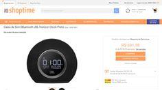 [Shoptime] Caixa de Som Bluetooth JBL Horizon Clock Preto - de R$ 547,30 por R$ 449,10 (17% de desconto)