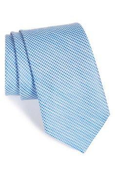 Men's John W. Nordstrom 'Seabiscuit' Houndstooth Silk & Linen Tie