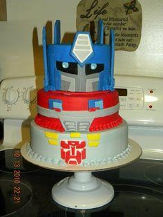 Transformer cake I made for a friends sonhttp://pinterest.com/rlr9880/cakes-that-i-have-made/#