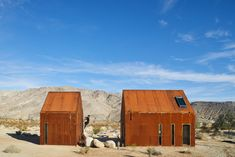 These Tiny, Off-the-Grid Cabins Near Joshua Tree Look Totally Apocalypse-Proof #desert #deserthome #cabin #joshuatree