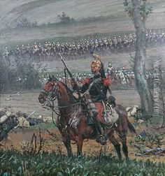 French Cavalry Preparing To Charge.
