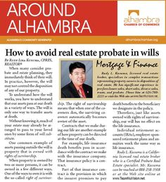 "Another interesting article on ""How To Avoid Real Estate Problems In Wills"" by Rudy Kusuma http://www.TeamNuVision.net"