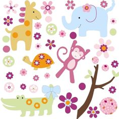 Childrens Wall Stickers, Jungle Wall Stickers, Childrens Wall Stickers | Becky & Lolo