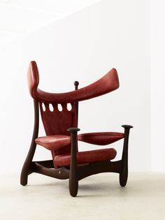 "Chifruda Armchair by Sergio Rodrigues. Originally designed for the exhibition ""Furniture as Work of Art"" in 1962."