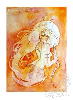 Schütze Sternzeichen Göttin / Archer / Feuer Elementar / Heilige Geometrie / Göttin / Astrologie ~ Kunstdruck von Roberta Orpwood