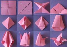 Easy origami flower instructions how to make origami flowers origami tulip 40 origami flowers you can do mightylinksfo