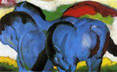 Франц Марк «Маленькие голубые лошади»