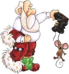Santa and Mouse pieces) Christmas Graphics, Christmas Clipart, Christmas Printables, Christmas Pictures, Christmas Rock, Christmas Projects, Vintage Christmas, Christmas Holidays, Xmas