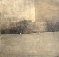 annsymes:    Kate Hunt  Dwelling: Grey  mixed media on linen
