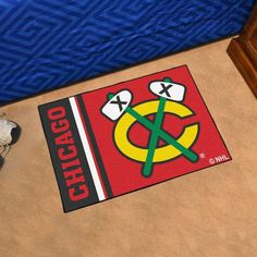 "NHL Chicago Blackhawks Uniform Starter Rug 19""x30"""