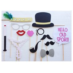 Great Gatsby Photo Booth Props - 1920s - Roaring 20s Birthday - Wedding…