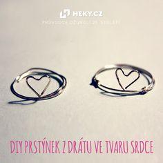 Svatý Valentýn: DIY prstýnek z drátu ve tvaru srdce