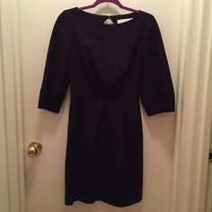 LIKE NEW- Trina Turk dress! Just bought this lovely black dress from Poshmark.  It arrived in perfect condition, and with a very flattering shape and cut.  The only problem is that my boobs aren't big enough for the pleated top.  Def made for a B-Cup plus  Trina Turk Dresses Midi