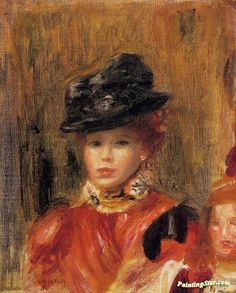 Madame Le Brun and Her Daughter Artwork by Pierre Auguste Renoir