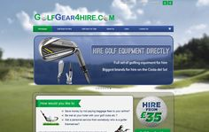 Ecommerce online store for renting out golf gear.