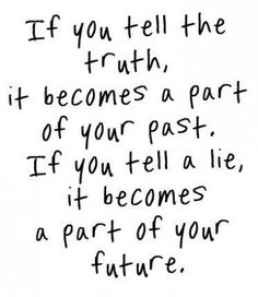 Truth Quotes If You Tell A Lie It Becomes A Part Of Your Future Mactoons Inspirational Quotes Gallery