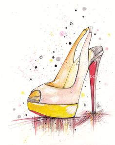 Peep-Toe Louboutin   Art Print by claireswilson on Etsy