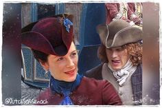 Claire, Jamie and their tricorns!