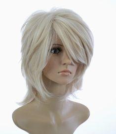 Short Platinum Blonde Hair, Dark Roots Blonde Hair, Dark Hair, Shaggy Haircuts, Shaggy Bob, Bob Hairstyles For Fine Hair, Wig Styles, Great Hair, Hair Dos