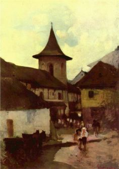 Catholic Church in Cimpulung - Nicolae Grigorescu Art History Major, Post Impressionism, Art Database, Sculpture, Kirchen, Modernism, Lovers Art, Romania, Art Gallery