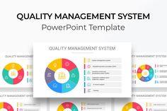 Quality Management System PowerPoint Diagram Dashboards, Color Themes, Management, Diagram, Templates, Stencils, Vorlage, Models