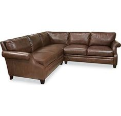 Mercer Sectional has soooo many leather choices!