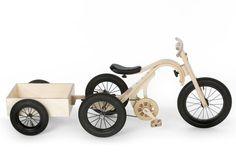 Детский деревянный велосипед Leg&Go трансформируется в санки, детскую лошадку-качалку и многое другое