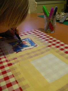 Teacher Quilt (s) | Fabric markers, Auction ideas and Gift