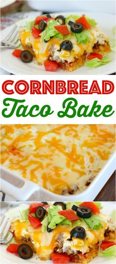 Easy cornbread taco bake Cornbread Taco Bake is a cornbread base topped with seasoned ground beef, a creamy filling and topped with melted cheese! - Cornbread Taco Bake recipe from The Country Cook Baking Recipes, New Recipes, Favorite Recipes, Taco Bake Recipes, Easy Taco Bake, Cornbread Recipes, Recipies, Hamburger Recipes, Steak Recipes