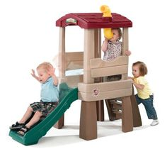 Naturally Playful Lookout Treehouse Kids Outdoor Play House Toy Slide NEW Outdoor Toys For Toddlers, Best Outdoor Toys, Indoor Outdoor, Kids Outdoor Play, Outdoor Games, Build A Playhouse, Playhouse Outdoor, Playhouse Slide, Outdoor Playset