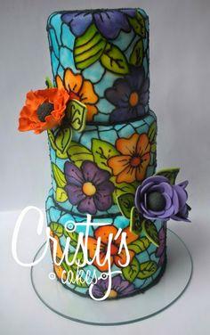tortas decoradas como vitrales - Buscar con Google