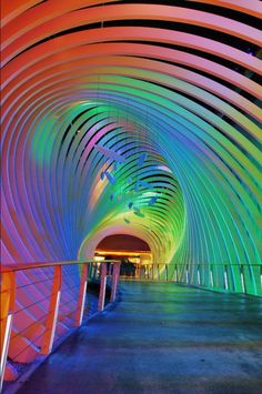 Over the rainbow entrance of the National Library in Leipzig, Germany