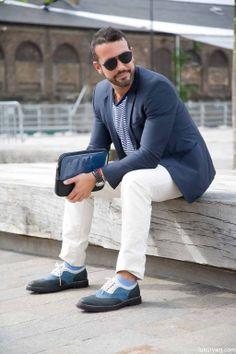 Will Higginson - London Collections Street Style - GQ. Menswear. Como el hombre elegante va de sport.