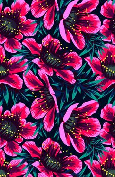 Art Inspiration: Manuka Floral Repeat Print by Andrea Stark.