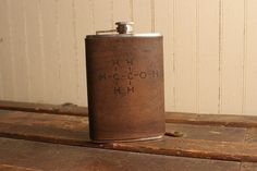 Element Flask Leather in Antique Black by moxieandoliver on Etsy