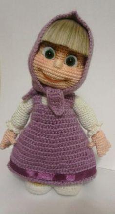 Masha Amigurumi Doll (only inspiration for eyes) Cute Crochet, Crochet For Kids, Crochet Dolls, Crochet Baby, Knit Crochet, Amigurumi Patterns, Amigurumi Doll, Doll Patterns, Crochet Patterns