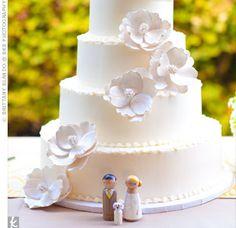 White Sugar Flower Cake